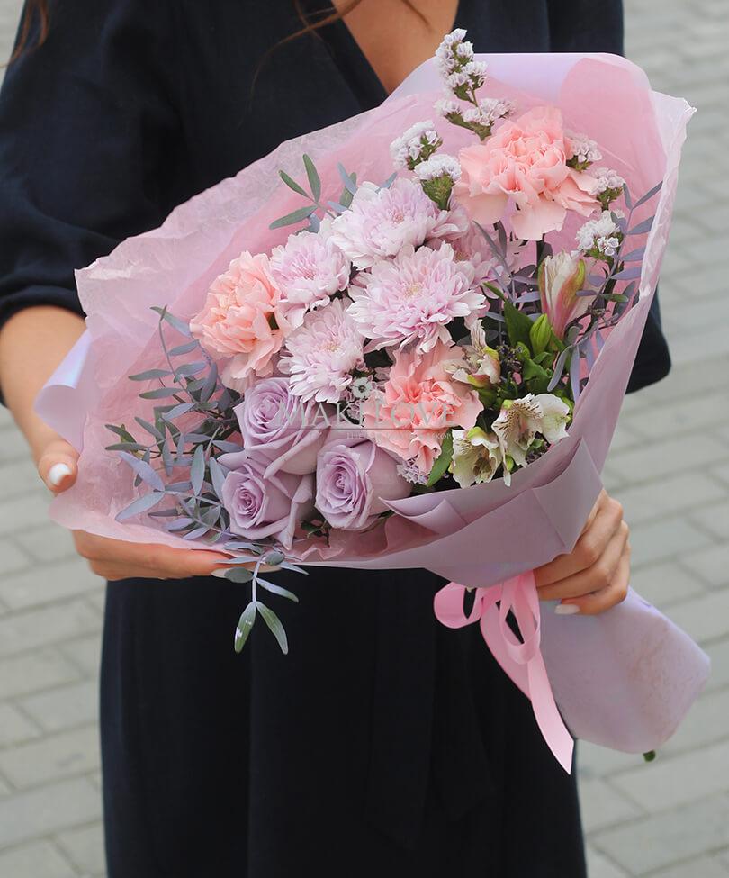 Букет «Невада» с розами