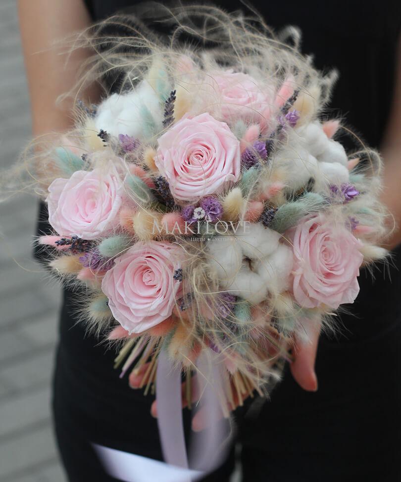 Свадебный букет из сухоцветов №47