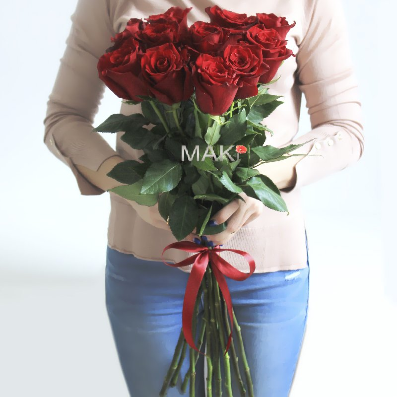 11 красных роз Premium