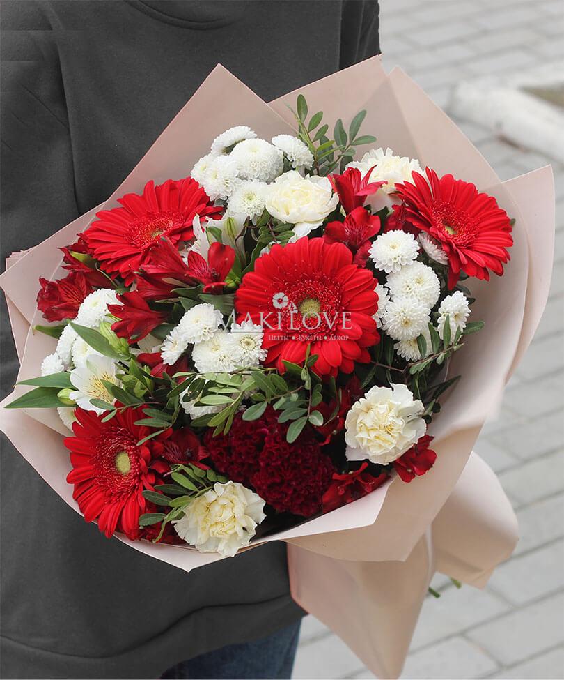 Букет хризантем «Фламенко»