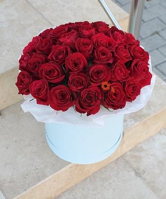 Москва с красными розами