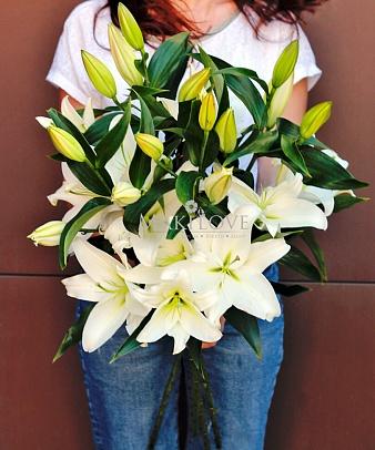 3 белые лилии