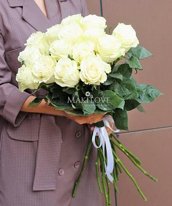 Букет 15 белых роз «Premium»