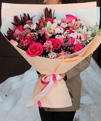 Букет «Розовая страсть»
