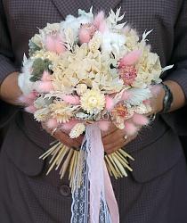 Свадебный букет невесты из сухоцветов №35
