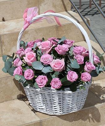 Корзина «Розовый флёр»