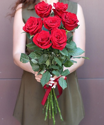 Букет из 7 красных роз Premium