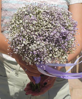 Свадебный букет невесты №43 (сиреневый)