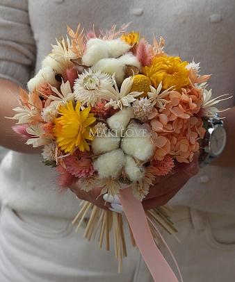 Свадебный букет из сухоцветов №49