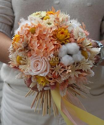 Свадебный букет из сухоцветов №50