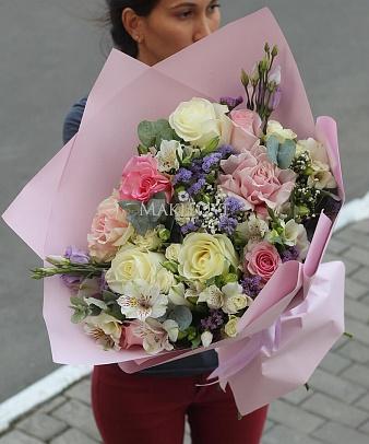 Букет «Акварель» с розами