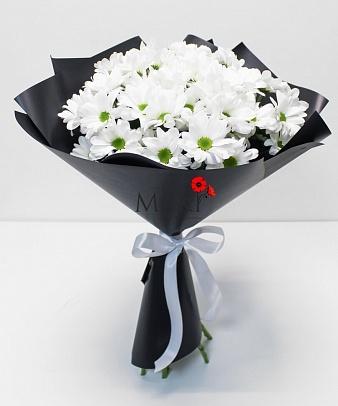 Букет хризантем «Стильные ромашки»